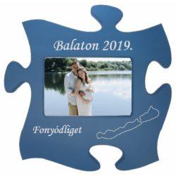 Balaton-nyaralás kék képkeret