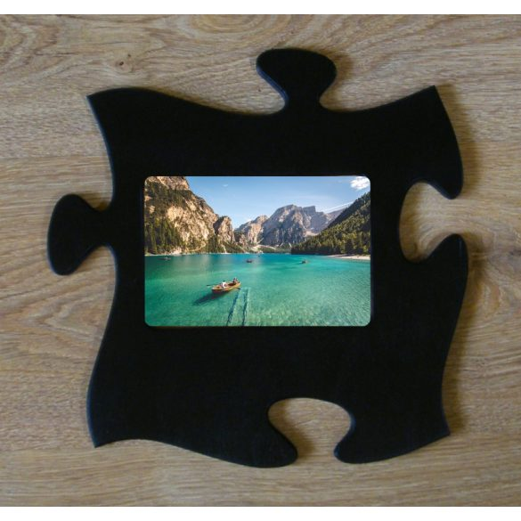Puzzle képkeret (fekete)