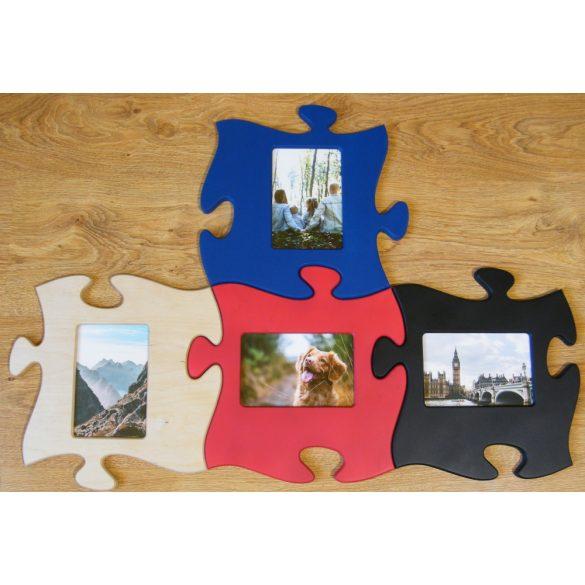 Puzzle képkeret (piros)