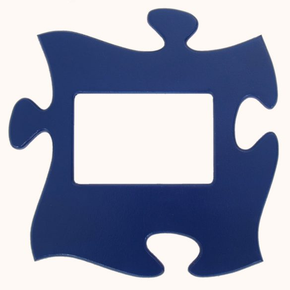 Puzzle képkeret (kék)