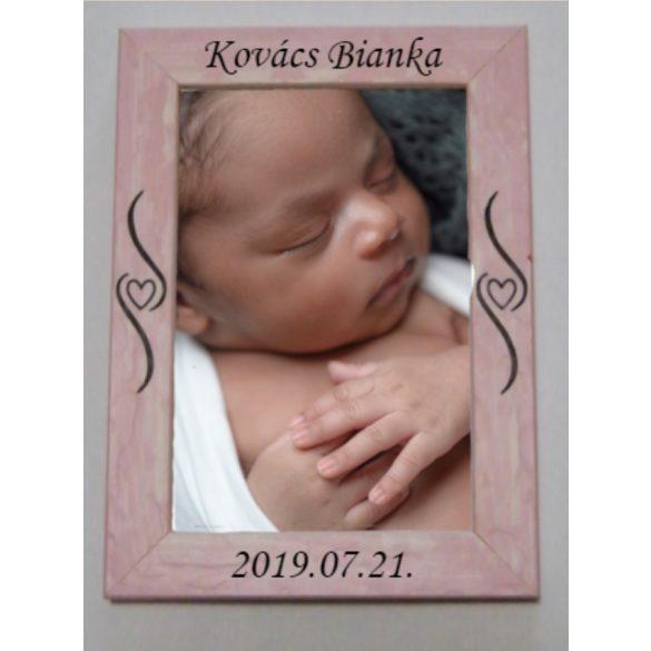 Baba képkeret (rózsaszín) 10x15cm