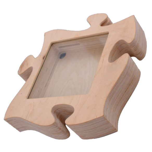 Puzzle alakú persely, tároló