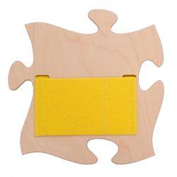 Fali tároló sárga filc zsebbel