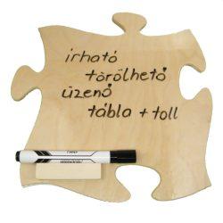 Írható törölhető tábla, tollal