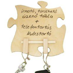 Írható törölhető tábla, kulcstartó akasztóval, filctollal