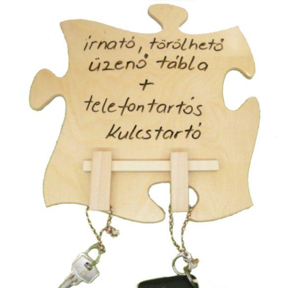 Írható törölhető tábla, telefontartós kulcstartóval, filctollal