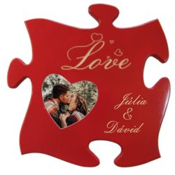 Szerelem Love képkeret, név felirattal