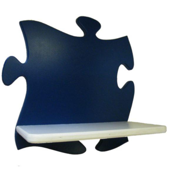 Puzzle gyerek polc (kék-fehér)