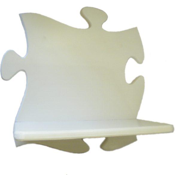 Puzzle gyerek polc (fehér)