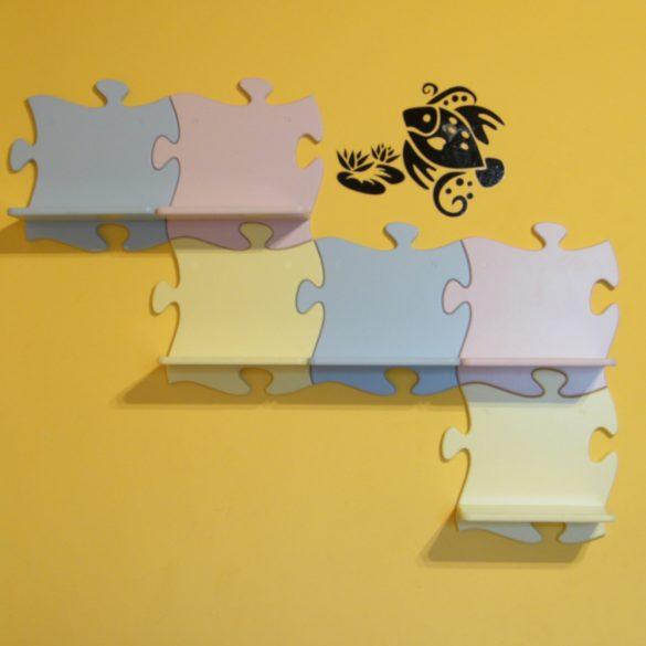 Puzzle gyerek polc (pasztell sárga)