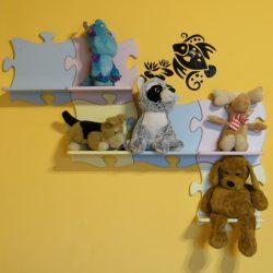 Puzzle gyerek polc többféle színben