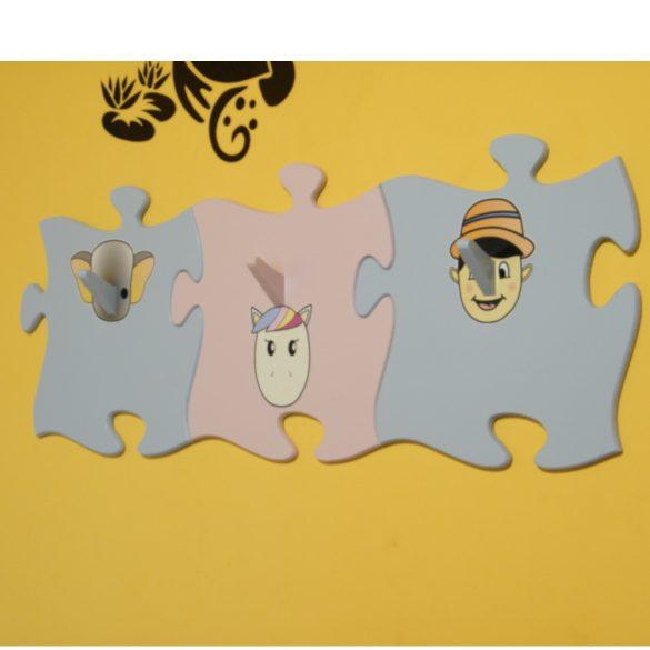 Puzzle alakú fogas (többféle színben és matricával)