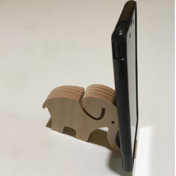 Telefontartó elefántos