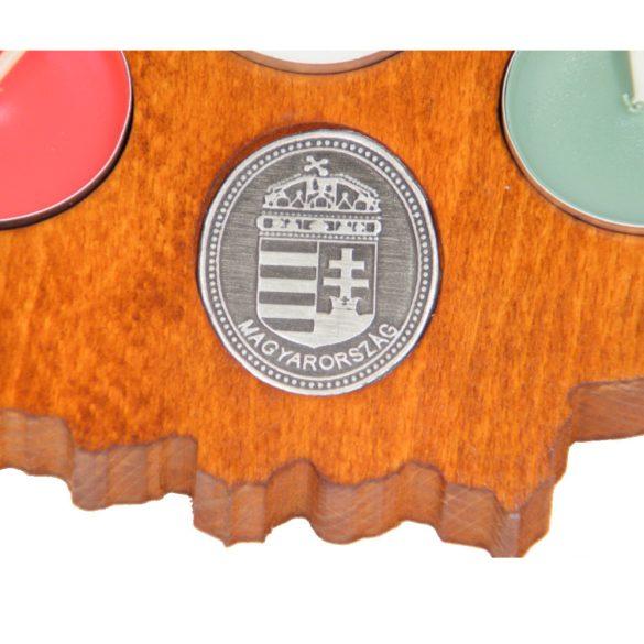 Faragott Nagy-Magyarország gyertyatartó (mahagóni színben)