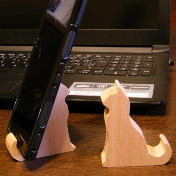 Telefontartó cicás