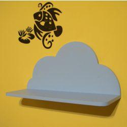 Gyerek felhő polc (kék), 45 cm