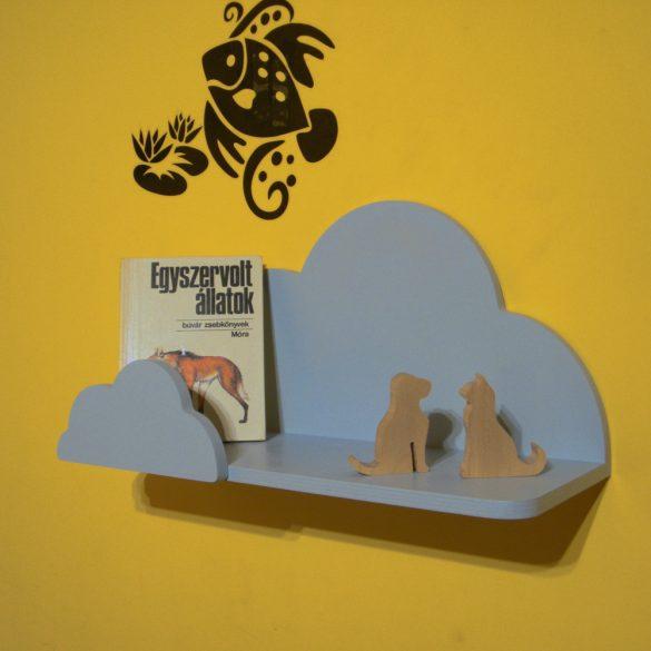 Gyerek felhő polc, 45 cm, előlappal, többféle színben