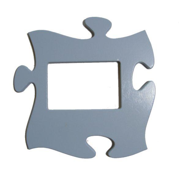 Puzzle képkeret (pasztell kék)