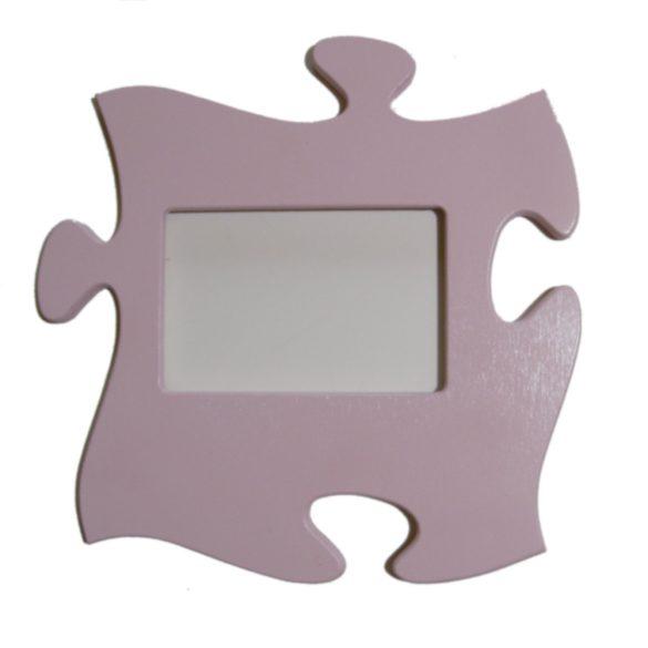 Puzzle képkeret (pasztell rózsaszín)