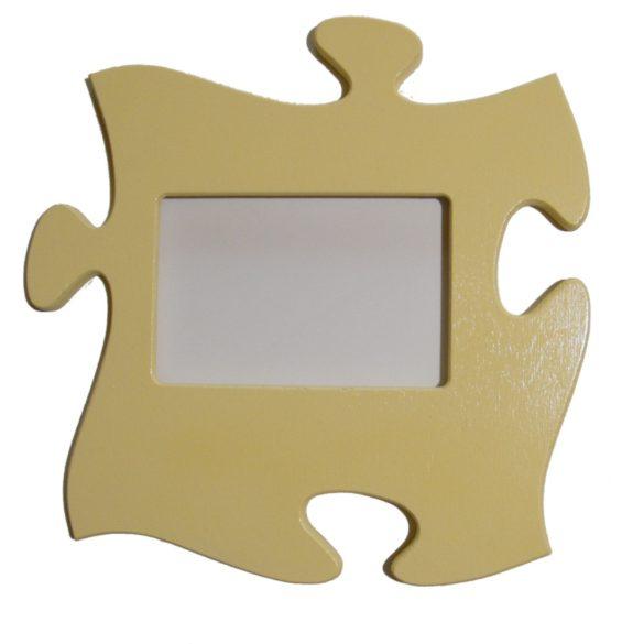 Puzzle képkeret (pasztell sárga)