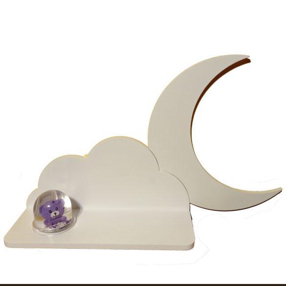 Foszforeszkálós hold (45 cm-es felhő polc kiegészítő)