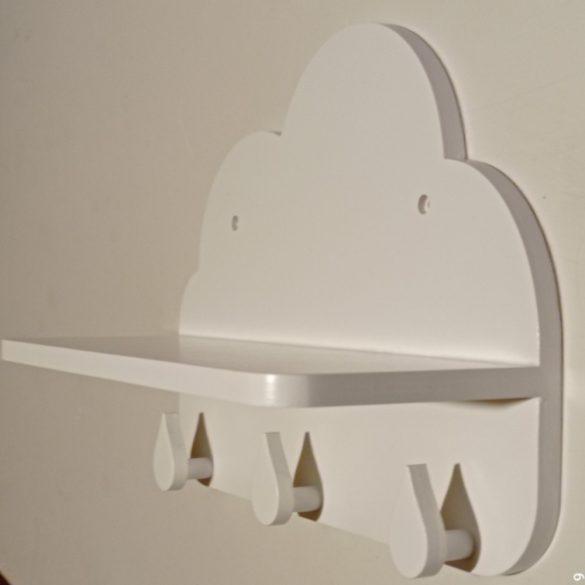 Gyerek akasztós felhő polc 35 cm (különféle színekben)