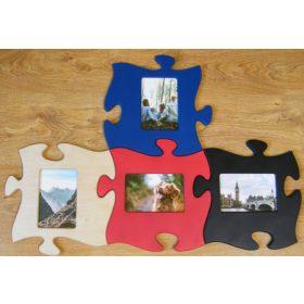 Puzzle színes képkeretek