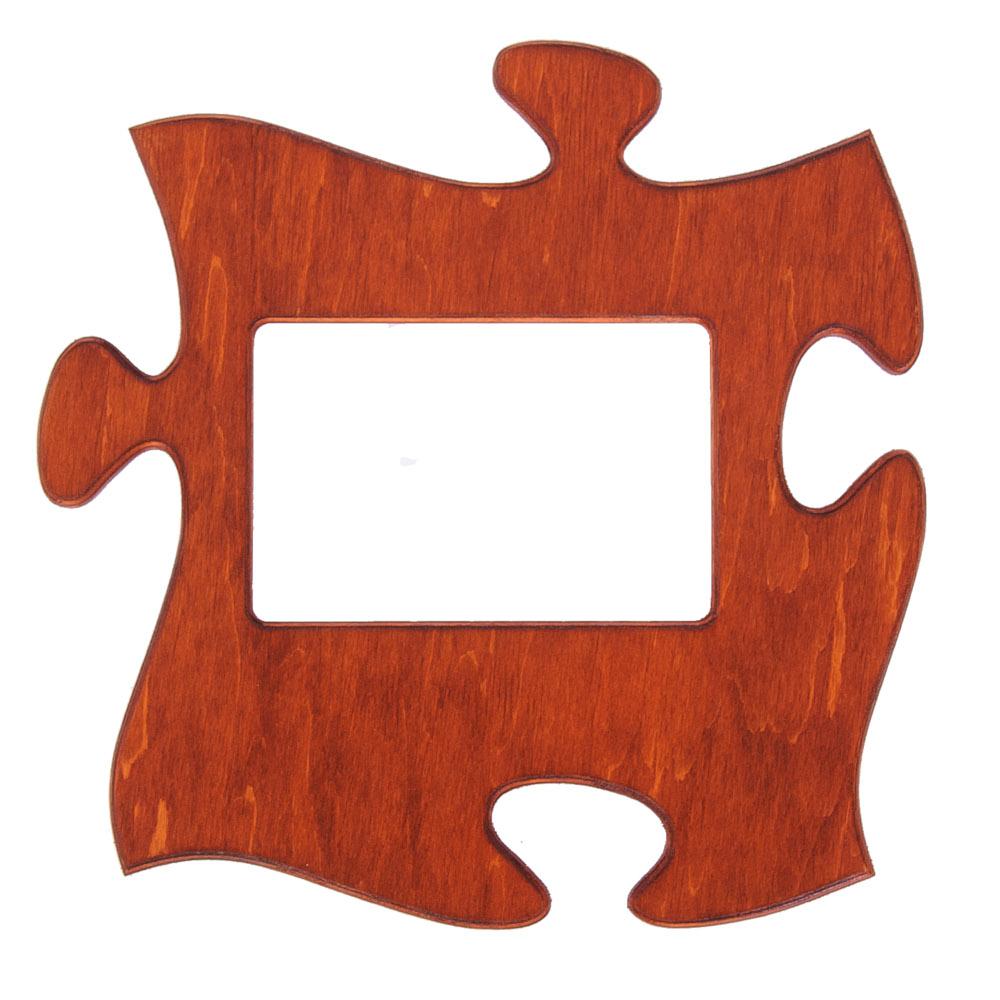 Puzzle képkeret mahagóni színben